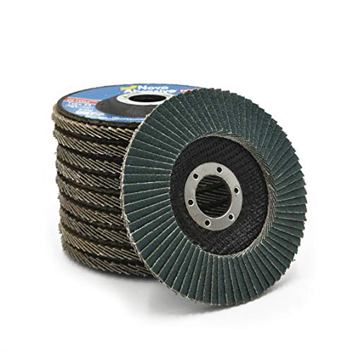 NOVOABRASIVE Premium kwaliteit 10 stuks Set 80 korrel 125 x 22,23 mm T29 conische zirkonium waaierschijven - Ideaal voor gelegeerd en niet-gelegeerd staal, gietijzer, kunststoffen, ijzermetalen, universeel