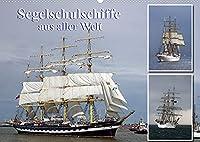 Segelschulschiffe aus aller Welt (Wandkalender 2022 DIN A2 quer): Segler auf Nord- und Ostsee fotografiert. (Monatskalender, 14 Seiten )
