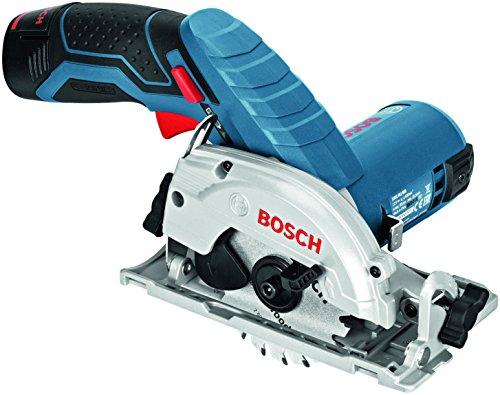 Bosch GKS 12V-26 Professional - Sierra circular a batería, 2 baterías 12 V 2.5 Ah,...