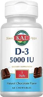 KAL 5000 Iu Ultra D-3 Tablets, Chocolate, 60 Count