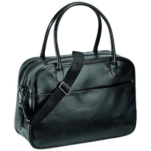 adidas Z37919 - Bolsa de Viaje para Hombre (47 x 29 x 14 cm), diseño Vintage, Color Negro