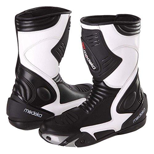 Modeka Donington 2 Motorradstiefel 41 Schwarz/Weiß