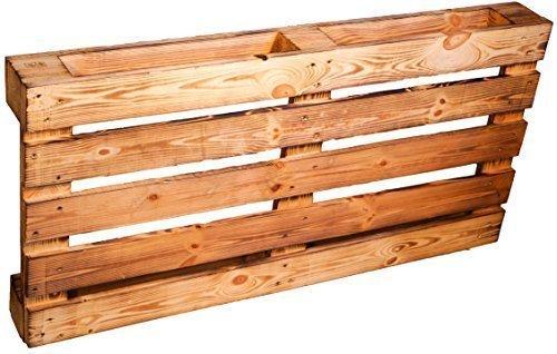 Kistenkolli Altes Land Palette ca 120 x 60 x 13 cm - Natur/Shabby/Vintage/Möbelbau - Palettnmöbel-Palettenregal - Bettbau - Weinkisten - Apfelkiste - Obstkiste (GEFLAMMT)