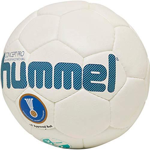 hummel HMLCONCEPT PRO-Handball Sport, Weiß/Türkis, 2