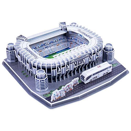 SUSHUN DIY 3D Puzzle Jigsaw World Football Stadium Soccer Playground Edificio ensamblado B Estadio Santiago Bernabéu