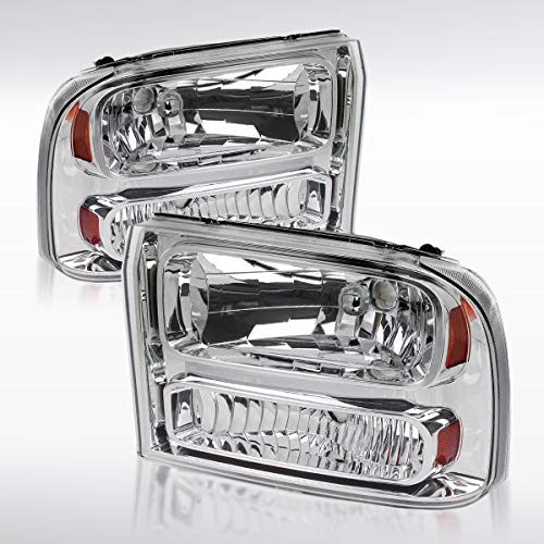 Autozensation for 1999-2004 Ford F250 F350 2000-2004 Excursion Clear 1PC Style Headlights Lamp
