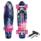Product Image of the Beleev Skateboard 22 inch Complete Mini Cruiser Skateboard for Kids Teens Adults...