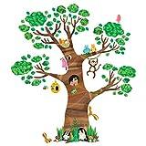DECOWALL DL-1709 Gigant Groß Baum Waldtiere Tiere Wandtattoo Wandsticker Wandaufkleber Wanddeko für Wohnzimmer Schlafzimmer Kinderzimmer(DEB)