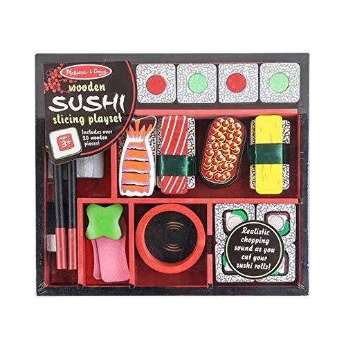 HSCW Cocina Juguete de simulación Simulación de Madera Cocina Comida Sushi Juego de Juguetes Juego para niños Casa Juguetes Juego de Corte Juego de Comida Juego de rol Juguetes de Regalo educativos