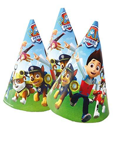 Generique - Paw Patrol Geburtstags-Hüte für Kinder Partyzubehör 6 Stück 16x11cm