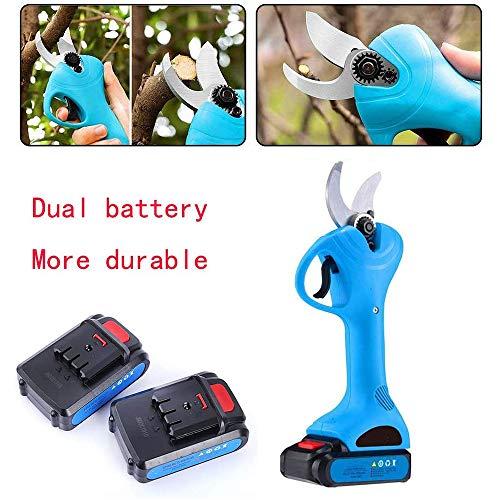 Professionele draadloze elektrische snoeischaar/Home oplaadbare elektrische fruitboom draadloze snoeischaar/portable lithiumbatterij dikke tak tuinieren scharen,30mm