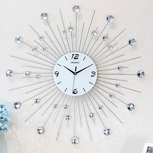 Relojes de pared HYL, Metal Redondo y Sala de Estar Reloj Decoración Personalizada Reloj de Cuarzo Mudo Cartas de Pared Grandes de Arte Moderno