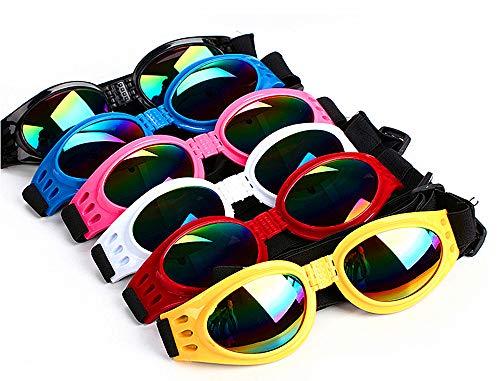 DPLUS Dog Goggles Dog Sunglasses - Glasses Set of 6 - for Dogs Dog Ski Goggles with UV Protection...