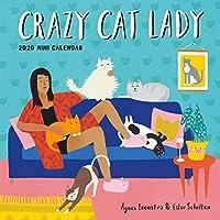 Crazy Cat Lady ミニウォールカレンダー 2020 [7インチ x 7インチ ]