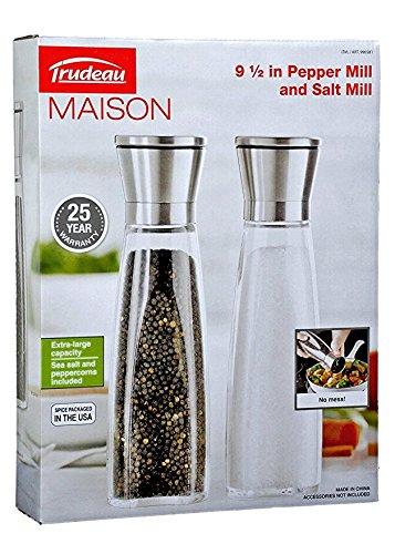Trudeau Maison 9.5 inch Pepper and Salt Mill