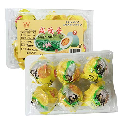 双葉 鹹鴨蛋【6個入×2点セット】 ゆで塩卵 咸?蛋 ご飯のお供 惣菜