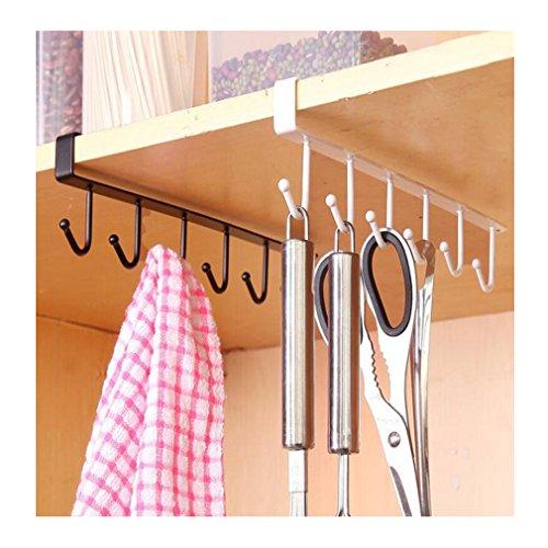 Albeey 1 Stück Unter Regal Tassenhalter Schrankeinsatz Küchenhelfer Tasse Halterung (weiß)