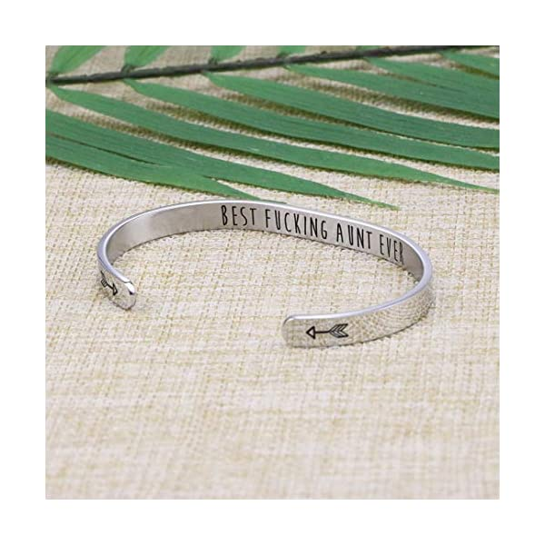 Joycuff Funny Gift for Her Boss Doctor Nurse Girlfriend Coworker Mom Granddaughter Aunt Engraved Cuff Bracelet