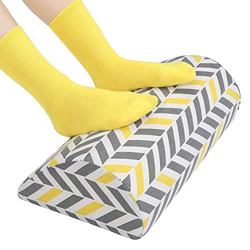 Under Desk Ergonomic Footrest Cushion, Namart High Rebound Ergonomic Foam Fabric Foot Rest for Circulation and Comfort Office Essentials Footstool (Bicolor Arrowhead)
