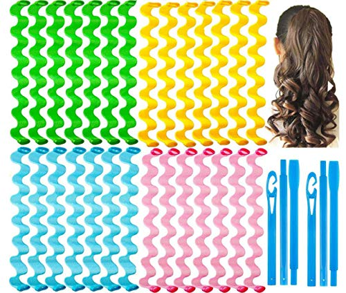 28 Pieces Hair Curlers Styling Kit,No Heat Hair...