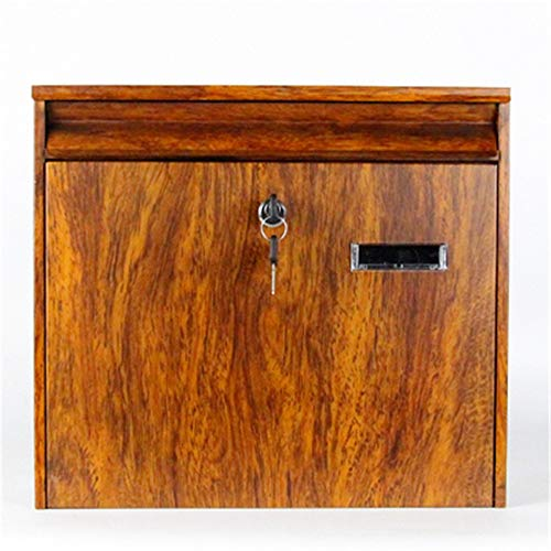 Letterbox Door Letterboxes Retro Classic Mailbox Modern House Outdoor Letter Box Rust & Weather Proof Vertical Wall Mount Locking Outside Mailboxes Home Office Security Outdoor
