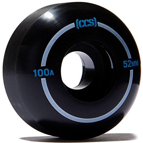 [CCS] Skateboard-Räder – 52 mm, 53 mm, 54 mm, 56 mm – 100 A (schwarz, 54 mm)