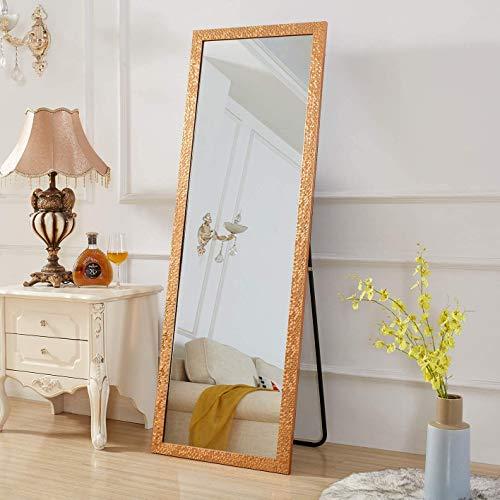 Rose Home Fashion Doppelzweck Wandspiegel Groß & Standspiegel, 163 X 54CM Mosaik-Stil Ganzkörperspiegel Gold, Feine Geschenke für Frauen Geburtstagsgeschenke für Frauen