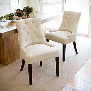Christopher Knight Home Hayden Tufted Fabric Dining/Accent Chair (Set of 2), Beige