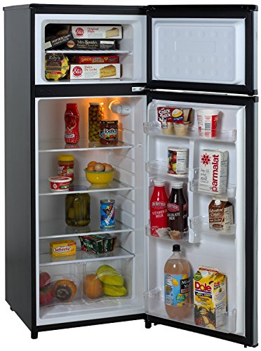 Avanti RA7316PST 2-Door Apartment Size Refrigerator, Black with Platinum Finish (2)