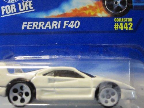 Hot Wheels Ferrari F40 1996 #442 con ruedas blancas de 5 puntos