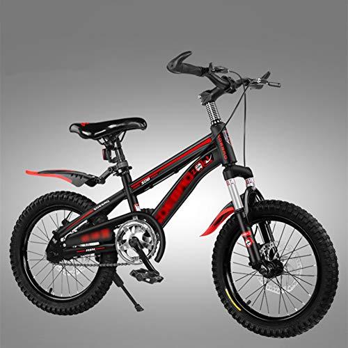 FXPCYGZ Biciclette 18 Pollici Bambini Mountain Bike Bicicletta per Adulti Maschio e Femmina Sci di Fondo Ragazzo Escursionismo Bicicletta Telaio Robusto Installazione Facile Pneumatico(Red)