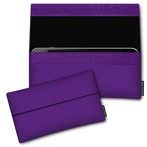 SIMON PIKE Hülle Tasche kompatibel mit Microsoft Surface Duo | Schutztasche Newyork in 01 lila aus Kunstleder Handyhülle