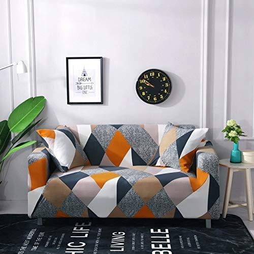 PPMP Moderne elastische Sofabezug für Wohnzimmer Schnittsofa Schonbezug Stuhlschutz Couchbezug A5 2-Sitzer