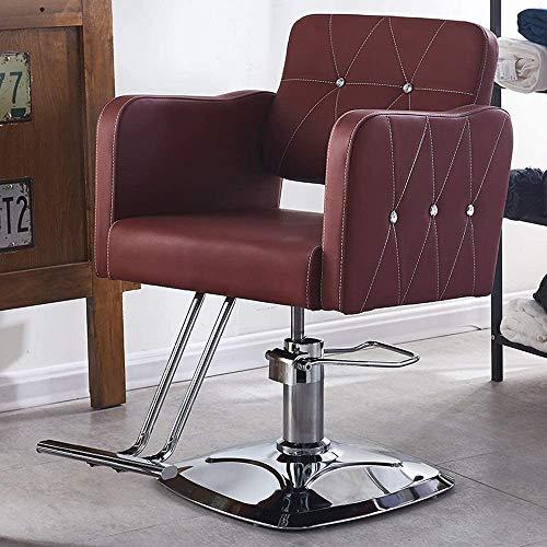 En Belleza y cuidado personal Sillas de salón para el cabello Estilista Hidráulico Recline Barber Silla Salon Champú Pelo de peinado Paquete (Color : B)