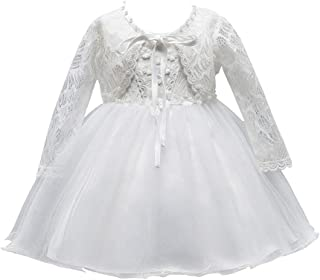 zhbotaolang Long Baptismal Dress Newborn Clothes Openwork Princess Girl Skirt with Hat
