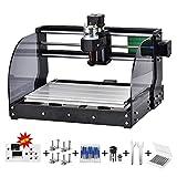 Kacsoo CNC 3018 Pro-M Mini macchina CNC fai da te, fresatrice per incisione laser router di legno per metallo Fresatrice per pc 3 assi Fresatrice per legno router di incisione laser