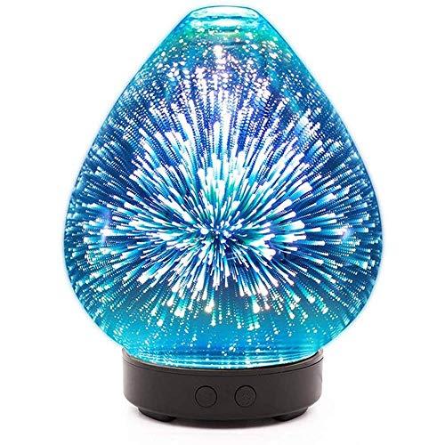 Peach Shaped Ätherisches Öl Diffusor 3D Glas kühler Nebel Aroma Diffuser Luftbefeuchter mit 7 Farben LED-Leuchten for Home Office DYWFN