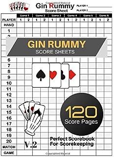 Gin Rummy Score Sheets: Gin Rummy Score Book   Gin Rummy Score Pads   Record Keeper Book   Perfect Scorebook for Scorekeeping   Size 8.5