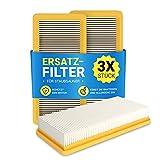 Juego de 3 filtros Hepa planos de repuesto para Kärcher 6.414-631.0, DS5200, DS5800, DS6, DS5600, filtro de motor, filtro de aire, filtro de láminas, aspiradora de suelo con filtro de agua