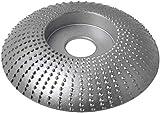 Muela de Ángulo de Madera para Amoladoras Compatible con De-Walt, Bosch, Milwaukee, Mak-ita, Disco de Muela Abrasiva de 115mm para Amoladora Angular SD412X70 Lijar Tallar por Poweka