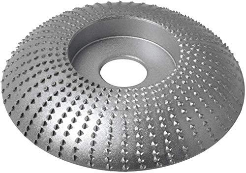 Muela de Ángulo de Madera para Amoladoras Compatible con De-Walt Bosch Milwaukee Mak-ita Disco de Muela Abrasiva de 115mm para Amoladora Angular SD412X70 Lijar Tallar por Poweka