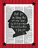 Ruth Bader Ginsburg Motivational Wall Art RBG Poster Fight For The Things You Care About Inspirational Quote Print Ruth Bader Ginsburg Silhouette Dictionary Art Print 8x10
