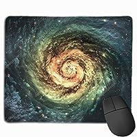 コンピュータラップトップ30x25 cmのための美しい渦巻銀河のマウスパッドの滑り止めのゴム製ゲームのマウスパッドのマット