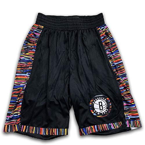 Basketball Shorts Trikot für Herren Kyrie Irving, New Season City Edition Brooklyn Netze Swingman Sports M-XXL-Shorts-S