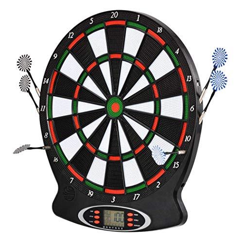 LHZTZKA Profi Dartscheibe, elektronisch Dartboard 18 Spiele und 159 Varianten bis zu 8 Spieler, inkl. Pfeile Soft Dart 3-Loch Abstand