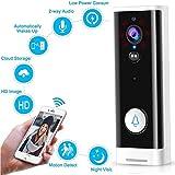 M-TOP Videoportero Inalambrico Timbre de Video WiFi Impermeable Video Doorbell Pro 170 Grados HD Visión Nocturna Detección de Movimiento PIR Burglar Reminder for iOS/Android/WindowsType 1