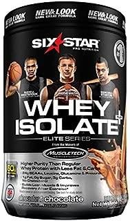 Six Star Pro Nutrition Elite Series 100% Whey Isolate Protein Powder, Decadent Chocolate, 1.50 Pound by Six Star