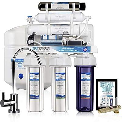 NU Aqua Platinum Series 100GPD Under Sink Reverse Osmosis Drinking Water Filtration System – Premium Water Filter