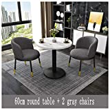 Conference Room Table and Chair Set Office Meeting Room Round Table Lounge 60cm...