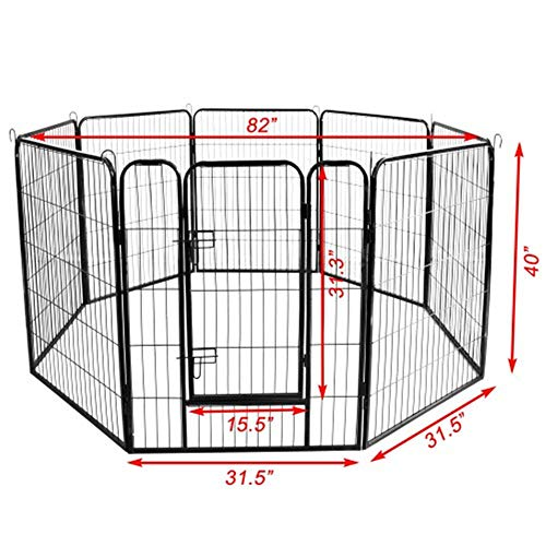 Pet cage Dog Cage Best Large Indoor Metal Puppy Dog Run Fence Iron Pet Dog Playpen for House Garden Ourdoor